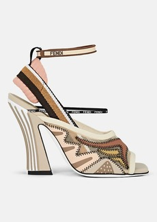 Fendi Women's Neoprene & Ankle-Wrap Sandals