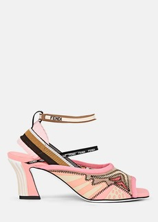 Fendi Women's Neoprene & Mesh Ankle-Wrap Sandals