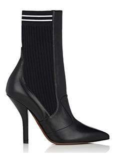 Fendi Women's Rockoko Leather Ankle Boots