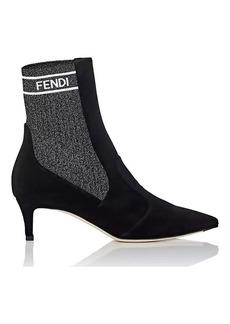 Fendi Women's Rockoko Velvet Ankle Boots