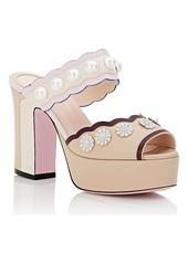 1ee33443cf5 SALE! Fendi Fendi Women s Stud   Pearl-Embellished Leather Platform ...