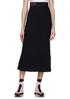 Fendi Women's Wool Side-Pleat Midi-Skirt