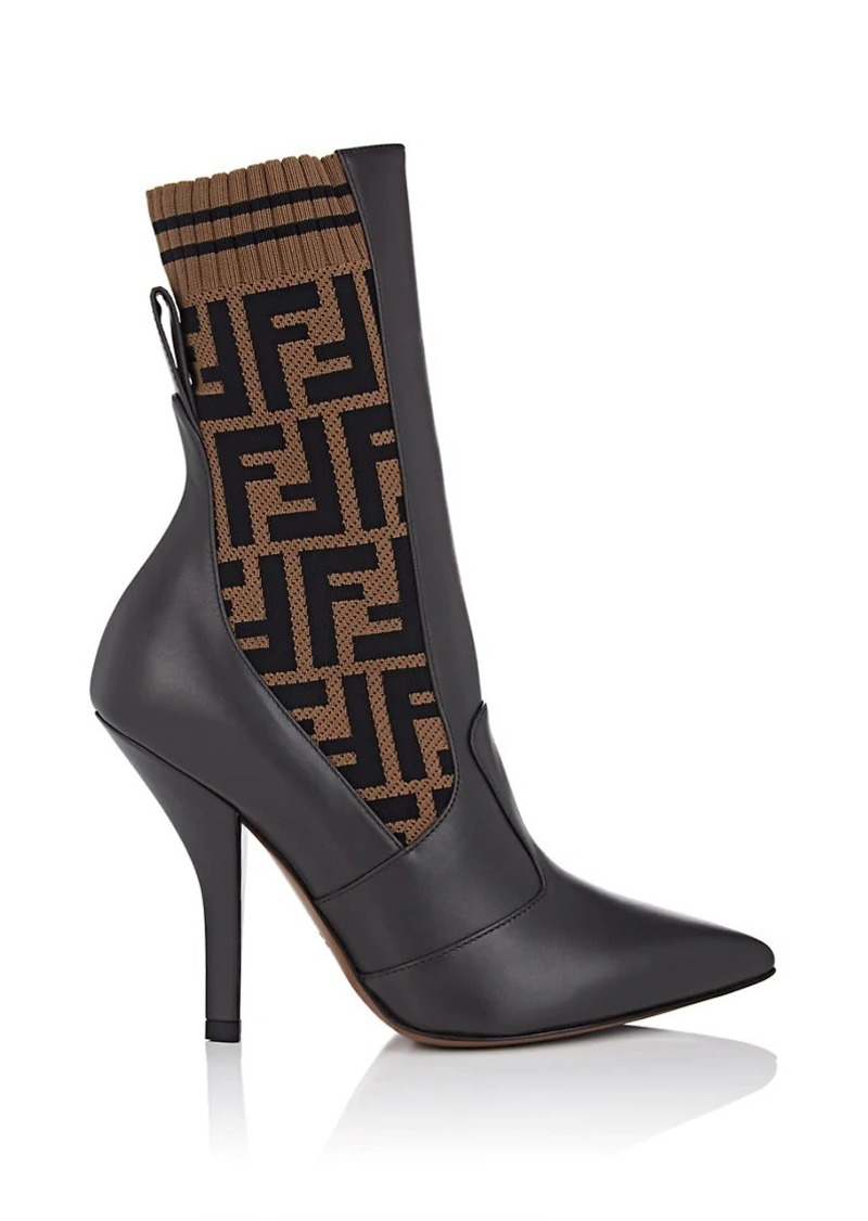 a040cacf Women's Zucca-Print Leather & Knit Ankle Boots