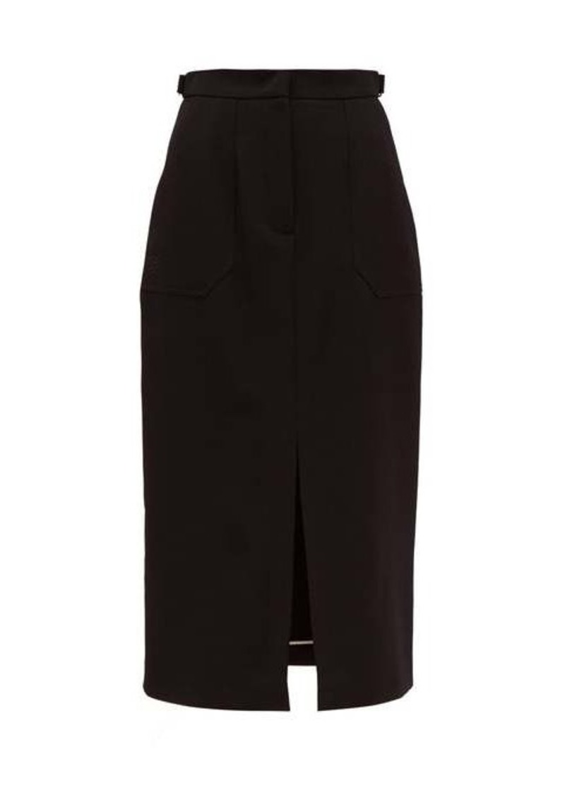 Fendi Wool-gabardine midi skirt