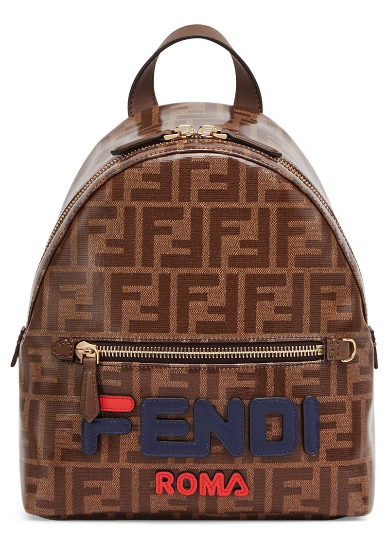 Fendi Fendi x FILA Large Mania Logo Backpack  383ddb73219d0