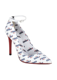 Fendi x FILA Mania Logo Ankle Strap Pump (Women)