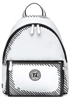 Fendi x Joshua Vides Logo Nylon & Leather Backpack