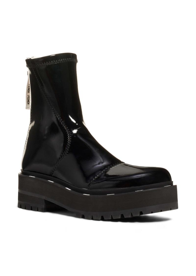Fendi Zip Patent Combat Boot (Women)