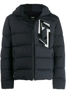 Fendi FF appliqué padded jacket