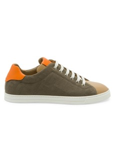 Fendi FF Canvas Low-Top Sneakers
