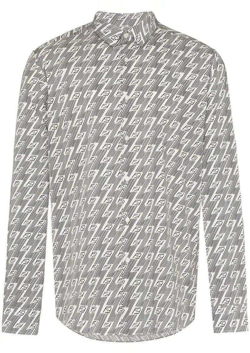 Fendi FF diagonal print shirt