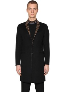 Fendi Ff Double Wool Cloth Coat
