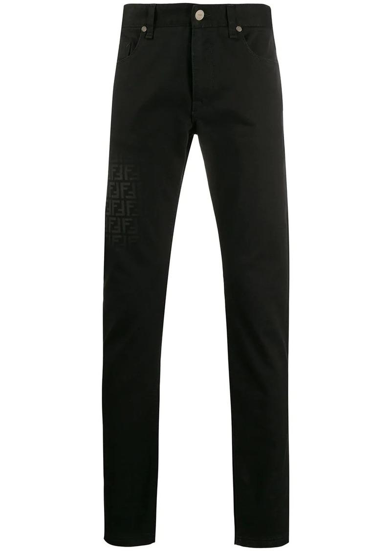 Fendi FF embellished skinny jeans