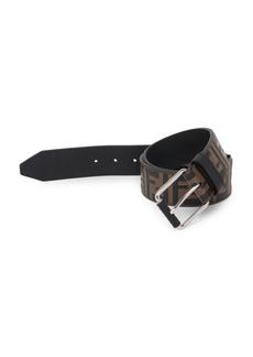 Fendi FF Embossed Leather Belt