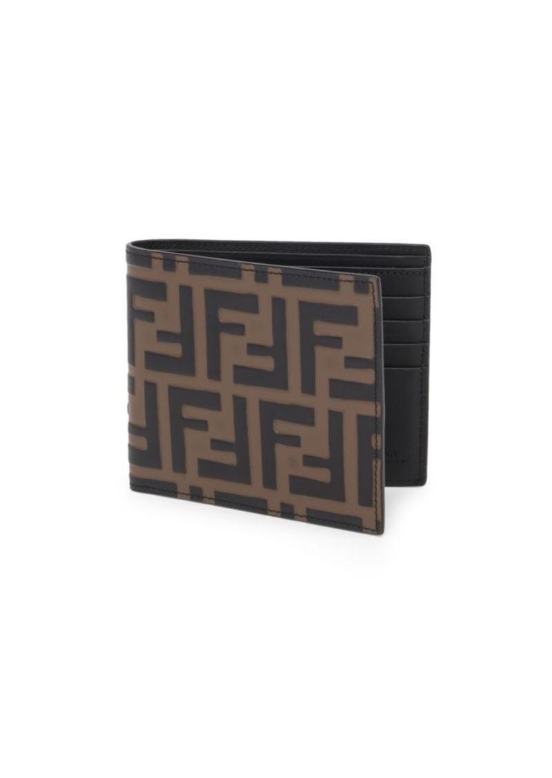 Fendi FF Embossed Leather Wallet