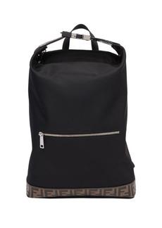 Fendi FF Embossed Nylon Backpack Tote