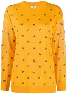 Fendi FF embroidered jumper