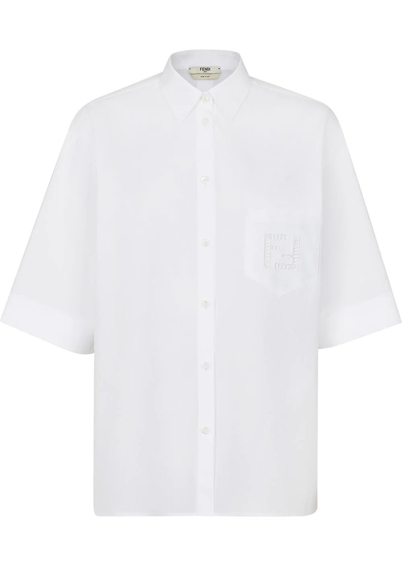 Fendi FF-embroidery short-sleeve shirt
