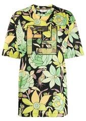Fendi FF motif floral print T-shirt