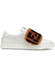 Fendi FF fur trim sneakers