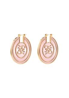 Fendi FF gold-tone hoop earrings