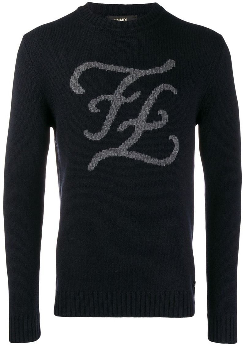 Fendi FF Karligraphy knitted jumper