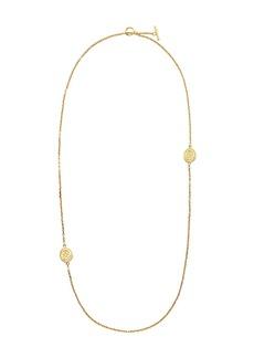 Fendi FF karligraphy logo engraved necklace