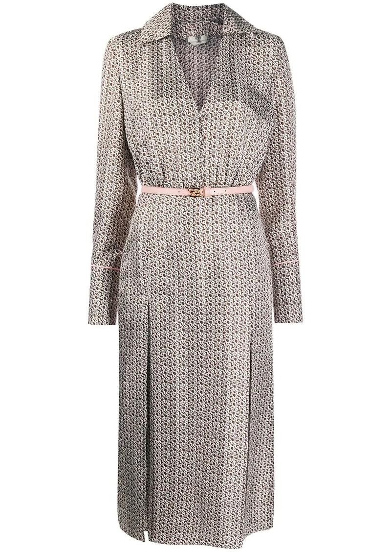 Fendi FF Karligraphy long-sleeved dress