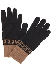 Fendi FF knit gloves