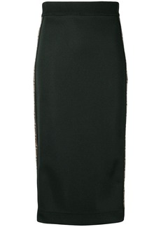 Fendi FF logo band fitted skirt