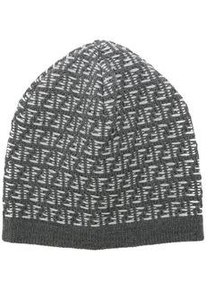 Fendi FF logo beanie hat