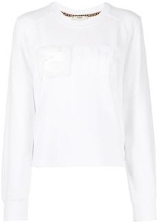 Fendi FF logo embroidered sweatshirt