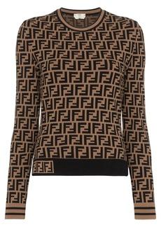 Fendi FF logo intarsia jumper