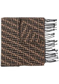 Fendi FF logo knit scarf