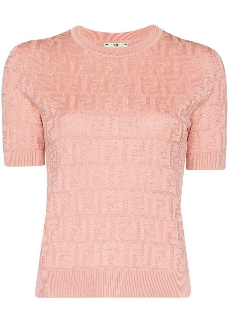 Fendi FF logo knitted top