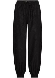 Fendi FF-logo print track pants