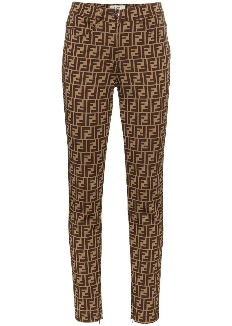 Fendi FF logo print trousers