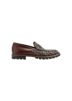 Fendi FF logo printed loafers