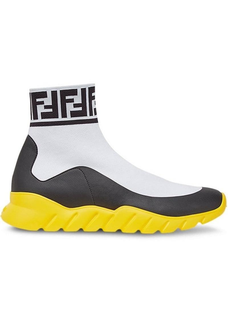 Fendi FF logo sock sneakers
