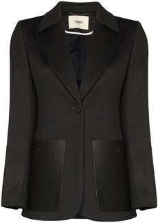 Fendi FF logo stripe blazer
