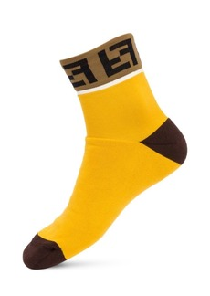 Fendi FF Logo Trim Socks