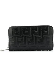 Fendi FF logo zip-around wallet