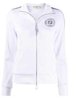 Fendi FF metallic zipped jacket