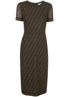 Fendi FF monogram mid-length dress