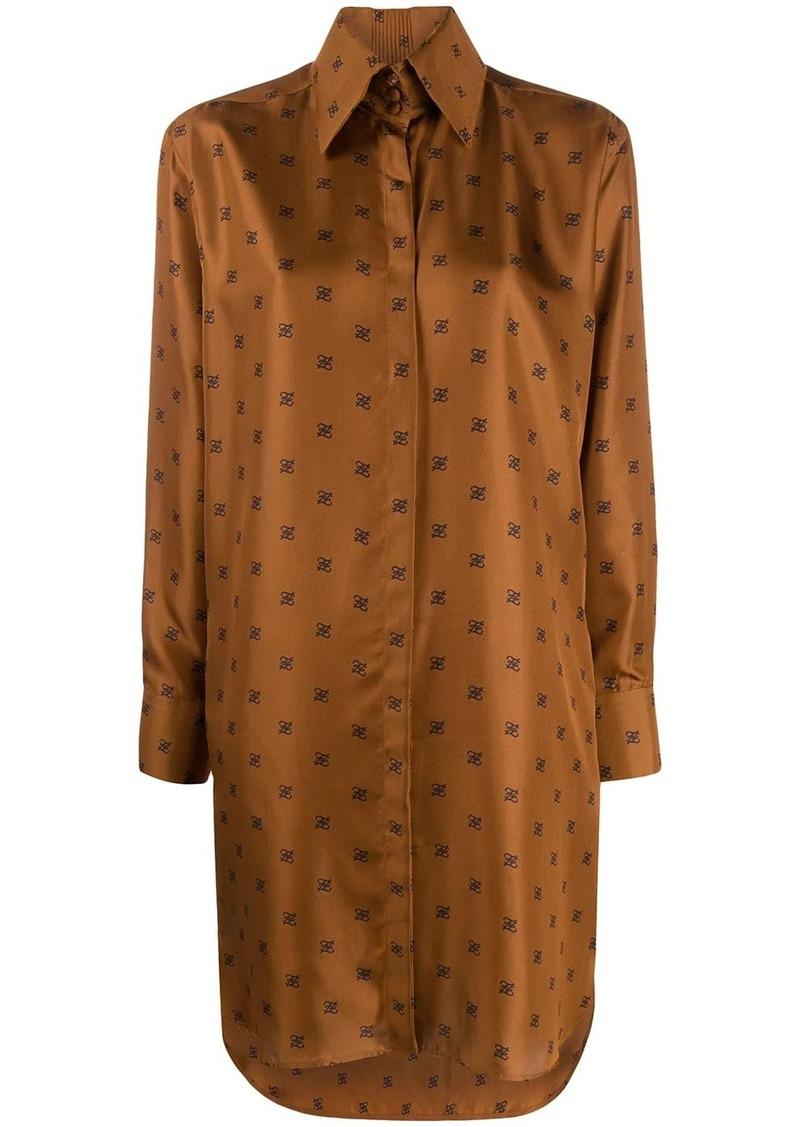 Fendi FF monogram shirt dress