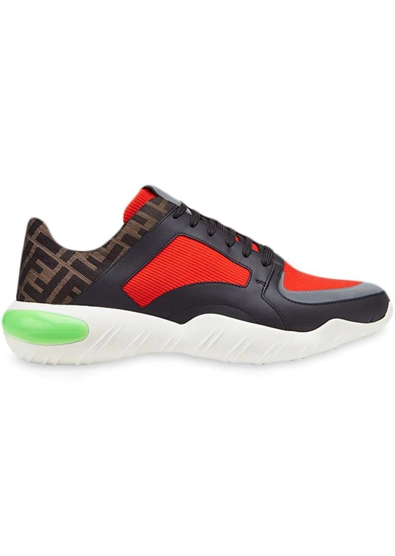 Fendi FF motif colourblock running sneakers