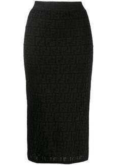 Fendi FF motif knit skirt