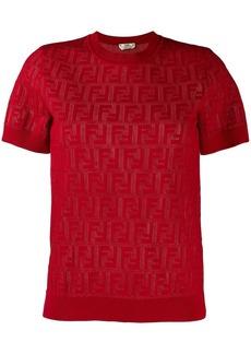 Fendi FF motif knit top