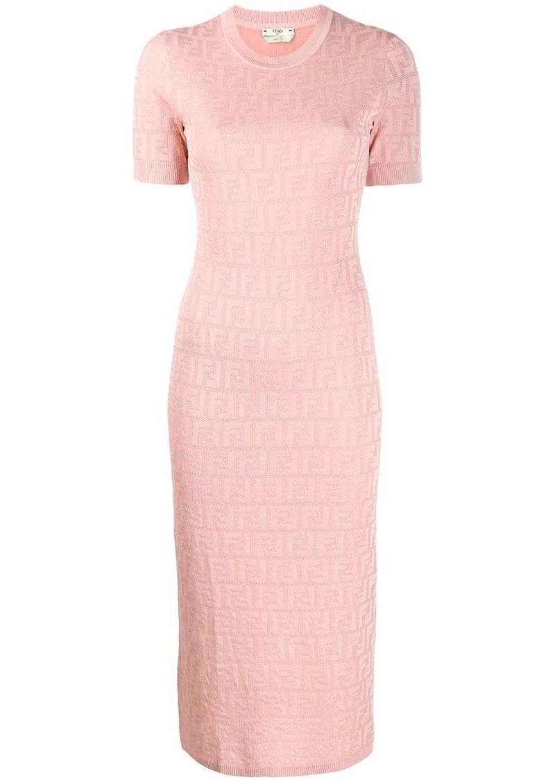 Fendi FF motif knitted dress