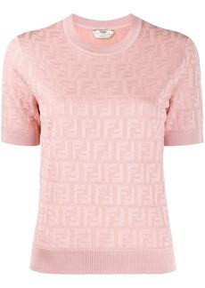 Fendi FF motif knitted top
